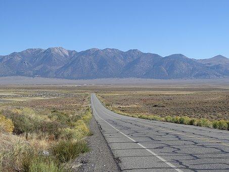 Road, Desert, Loneliness, Just, Usa, Sand, Desert Road