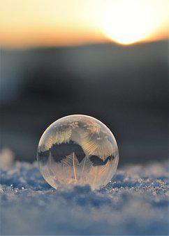 Soap Bubbles, Frozen, Frozen Bubble, Eiskristalle