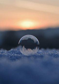 Soap Bubbles, Frozen, Frozen Bubble, Eiskristalle