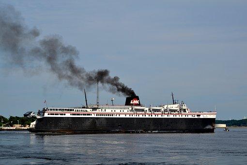 Lake, Water, Ships, Summer, Vacation, Tourism, Michigan