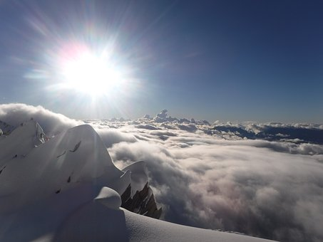 Above The Clouds, In The Mountains, Sun In Mountains
