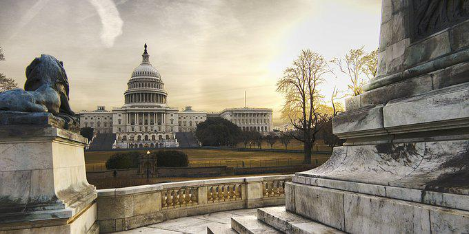 Capitol, Usa, Washington Dc, Sunrise, National Mall