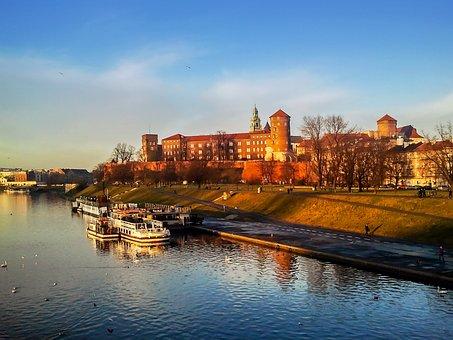 Kraków, Wawel, Castle, Wisla, Poland, Monument