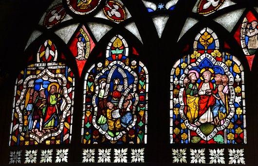 Stained Glass, Window, Church, Church Window