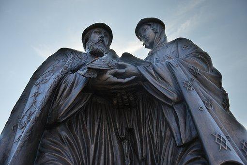 Astrakhan, Pyotr And Fevroniya, Monument, Sculpture