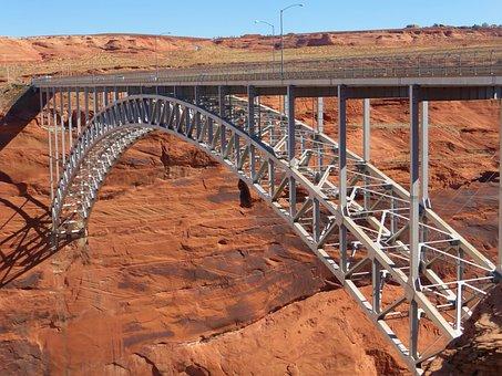 Glen Canyon, Usa, Bridge, Colorado River, Stahlbau