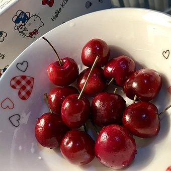 Cherry, Love, Fruit, Summer, Red, Vitamins, Dish