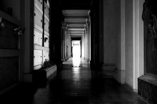 Hall, Path, Abandoned, Cemetery, Chilling, Horror, Solo