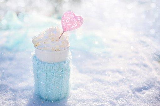 Hot Chocolate, Coffee, Winter, Cold, Frosty, Valentine