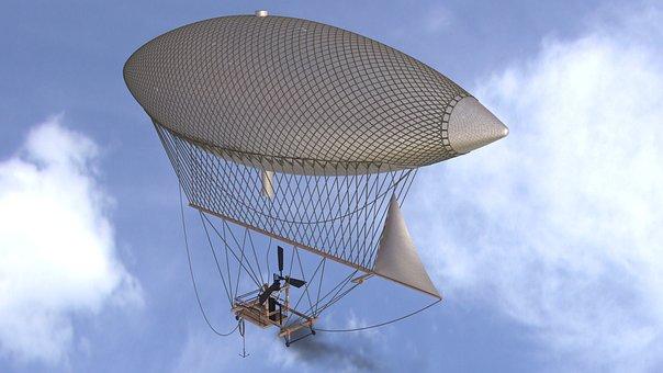 Airship, Blimp, Dirigible, Zeppelin, Flight, Balloon