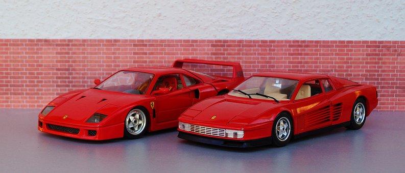 Model Car, Ferrari, Testarossa, F40, Speed, Italy, Fast