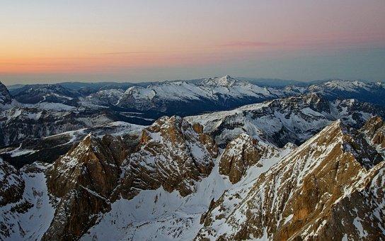 Aurora, Dolomites, Aurora From Marmolada, Italy, Alps