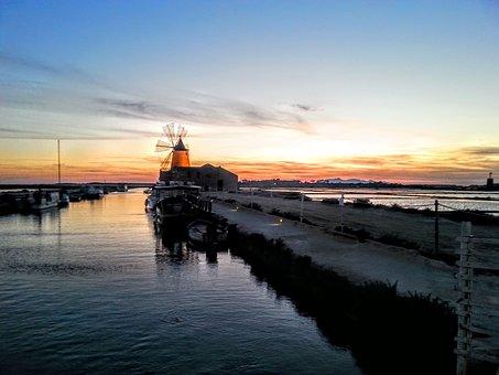 Mozia, Sicily, Sunset, Seasalt, Marsala, Trapani, Italy