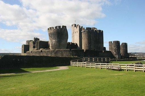 Castle, Wales, Caerphilly Castle, Uk, Landmark