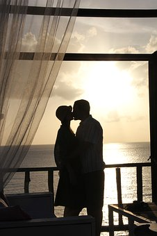 Lovers, Sunset, Mood, Pair, Love, Silhouette, Romance
