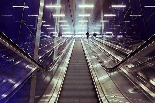 Architecture, Escalator, Stairs, Modern, City