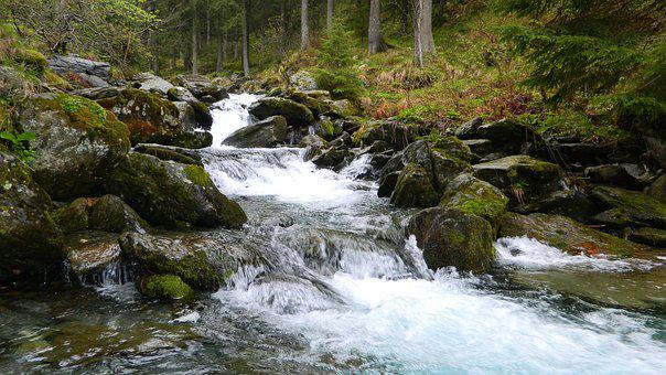 Small River, Mountain River, Nature, Mountains, River