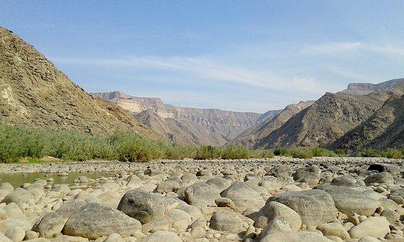 Namibia, Fish, River, Canyon, Travel, Landscape, Nature