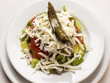 Greek Salad, Salad, Cheese, Feta, Greek, Food, Healthy