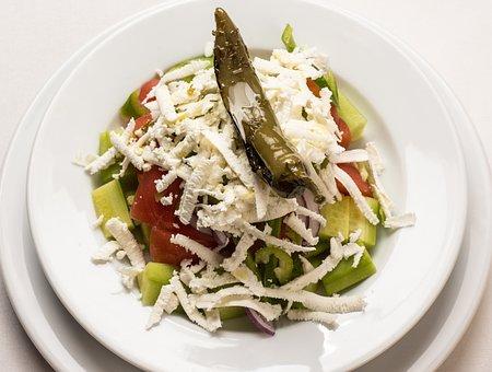 Greek Salad, Salad, Cheese, Feta, Greek, Food, Healthy