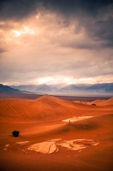 Death Valley, California, Desert, Sky, Clouds, Scenic