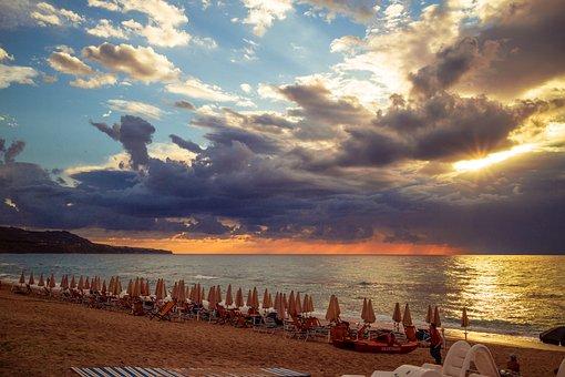 Sunset, Calabria, Beach, Italy, Summer, Sea, Tyrrhenian