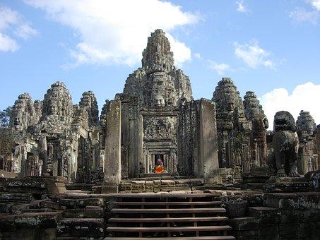 Siem Reap, Cambodia, Wat, Temple, Angkor, Khmer, Siem