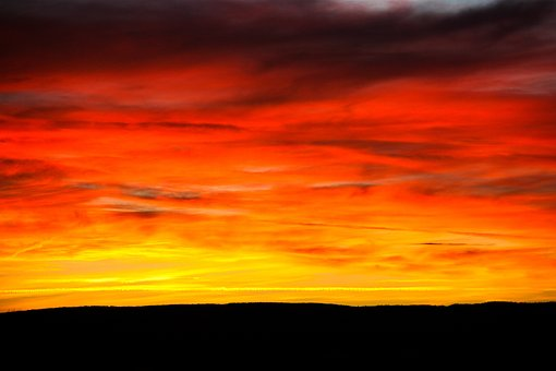 Sunset, Sky, Evening, Abendstimmung, Afterglow