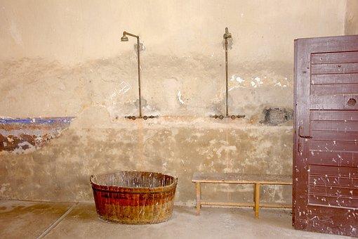 Shower, Space, Old, Shower Room, Concentration Camp