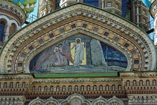 Russia, St-petersburg, Basilica, Savior On Blood