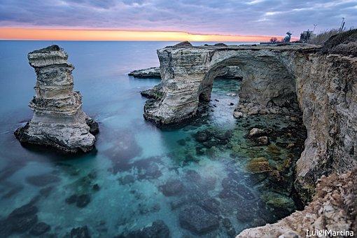 Sea, Summer, Faraglioni, Salento, Melendugno, Lecce