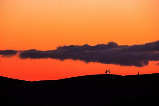 Sunset, Canary Islands, Gran Canaria, Silhouettes