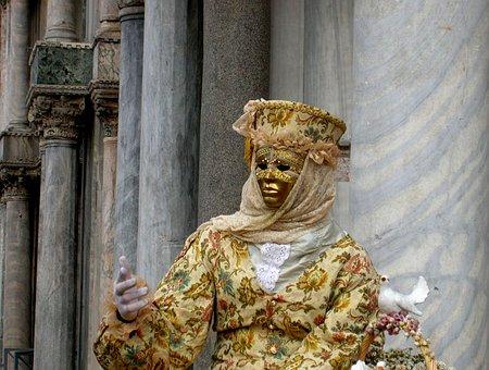 Venice, Carnival, Mask, Costume, Disguise, Masks, Fun