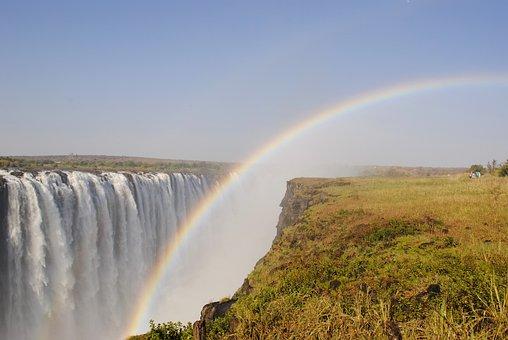 Victoria Falls, Waterfall, Zambezi, Africa, Zimbabwe