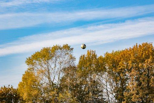 Sky, Sports Ground, Football, Football Pitch, Ball