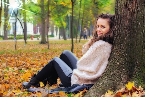 Girl Lying Down, Girl In The Park, Beautiful Woman