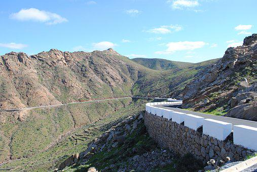 Fuerteventura, Inland, Mountains, Bike Ride, Road