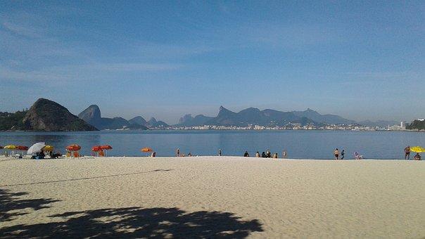 Brazil, Brazilian, Niteroi, Icarai, Beach, Landscape