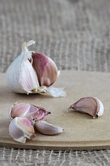 Garlic, Cloves Of Garlic, Clove Of Garlic, A Vegetable