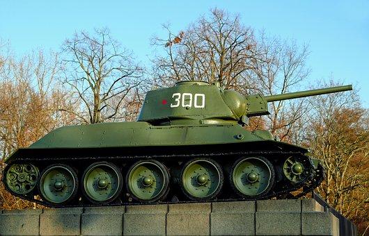 Tank T-34 76, World War Ii, Fallen, Soviet War Memorial
