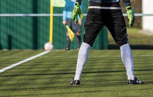 Goalkeeper, Football, Football Pitch, Ball, Grass