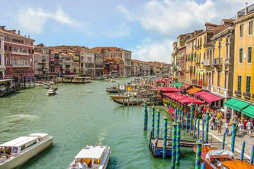 Venice, Grand, Canal, Boats, Water, Venezia, City