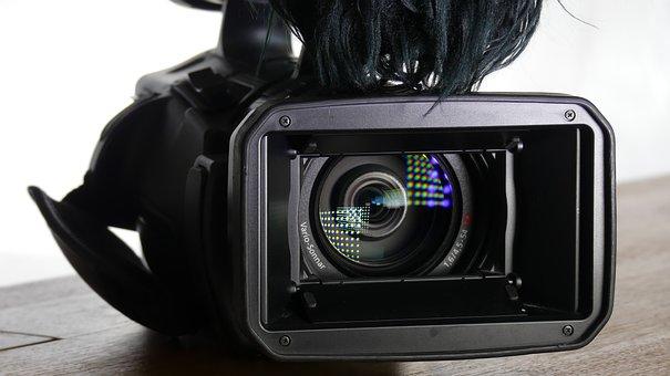 Camera, Reflection, Lens, Spotlight, Light, Tv, Shiny