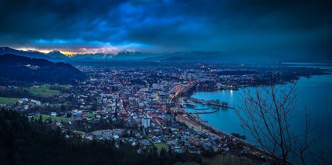 Lake Constance, Sunset, Drama, Long Exposure, View