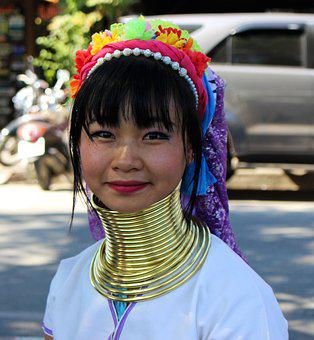 Thailand, Long Neck Woman, Tribal Lady, Long, Woman