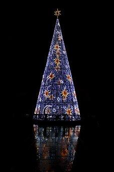 Christmas, Malaga, Lights, Night, Animated, Lighting
