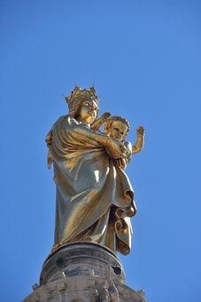 Marseille, Notre-dame-de-la-garde, Blue Sky