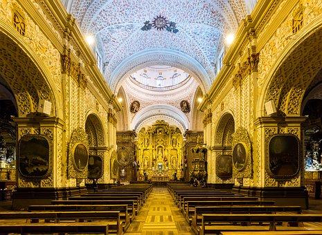 Church The Worship, Quito, Ecuador, Historic Church