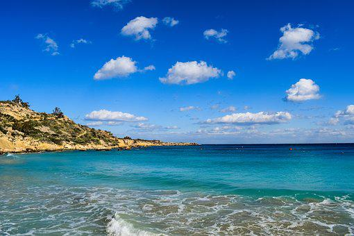 Coast, Sea, Scenery, Horizon, Sky, Clouds, Blue