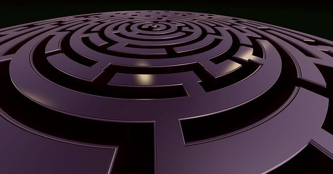 Labyrinth, Target, Away, Conception, Confusion, Search